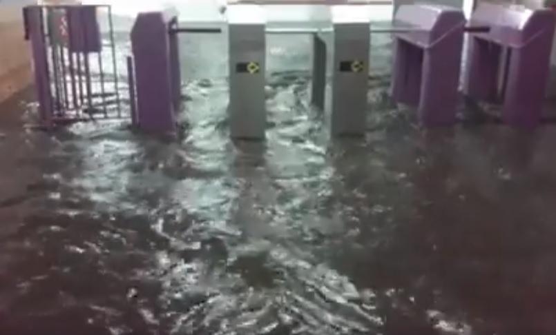 Estaciones inundadas y cortes parciales de servicio — Subtes