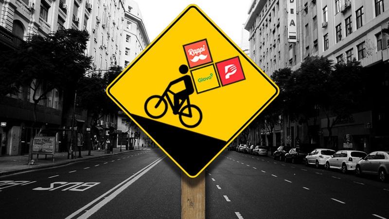 La bici, el apuro, la app y el asedio a la comida casera