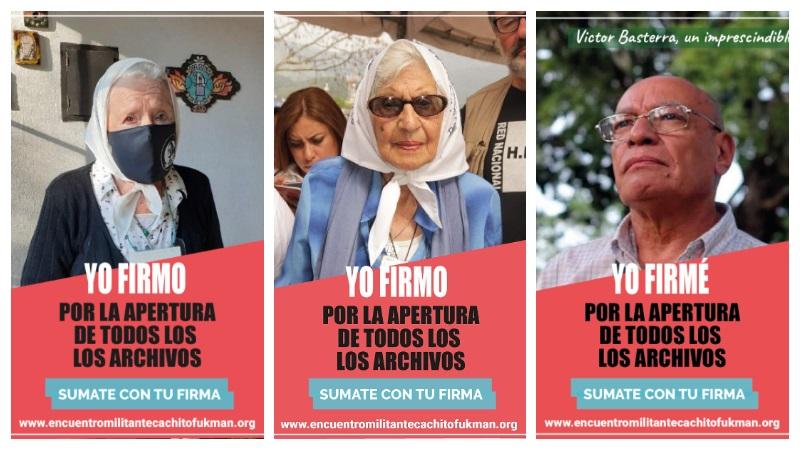 Sumá tu adhesión: campaña por la apertura de los archivos de la dictadura