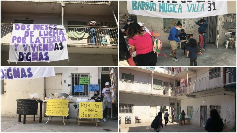[Video] Corte por vivienda y contra el desalojo en El Hotelito Barrio 31