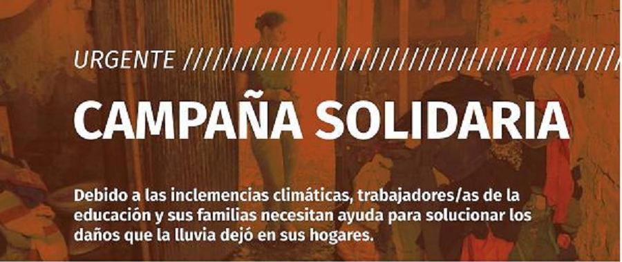 Trabajadores de la educación de Mendoza organizan campaña solidaria para las familias damnificadas por las inundaciones