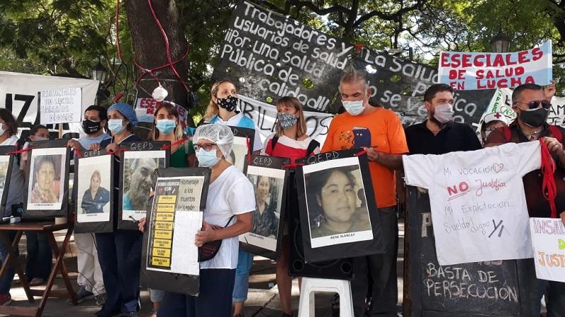 Trabajadores de la salud repudian la represión y exigen respuestas al Gobierno