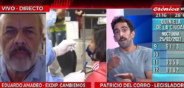 """Del Corro: """"Los amigos de Larreta se vacunaban mientras los jubilados hacían cola en la Rural"""""""