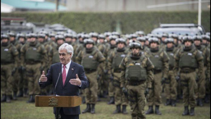 Piñera amenaza con imponer el estado de sitio contra los mapuche en La Araucanía