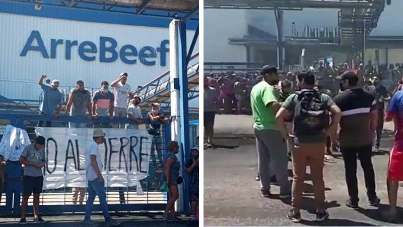 """Frigorífico Arrebeef: """"llanto"""" patronal, amenaza de cierre y gran resistencia obrera"""