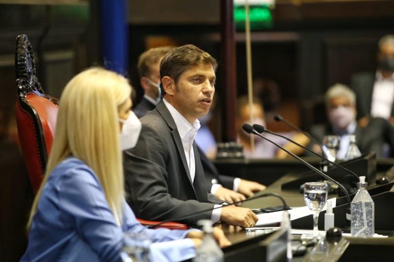 Apertura legislativa: Kicillof justificó la crisis por la herencia recibida y la pandemia