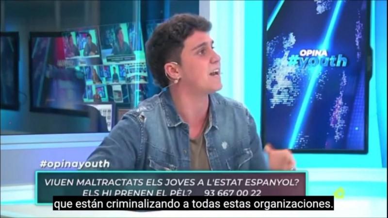 """Represión en el Estado español: """"No pienso ponerme del lado de quienes criminalizan a la juventud"""""""