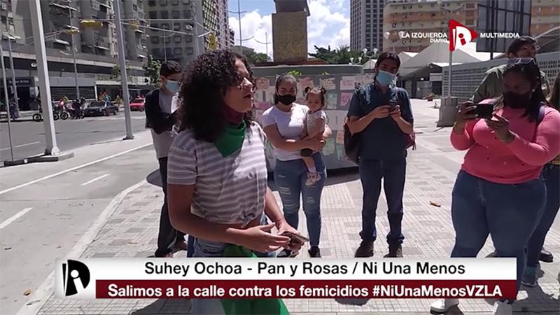 [Video] Organizaciones de mujeres movilizaron contra los femicidios en Venezuela