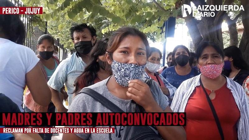 Jujuy: Madres y padres autoconvocados reclaman por falta de docentes y agua en la escuela
