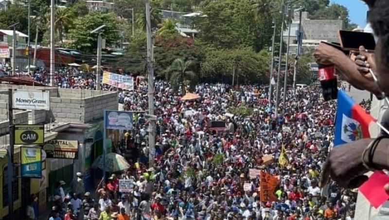 Protestas en Haití contra el régimen y la injerencia de Estados Unidos y el FMI