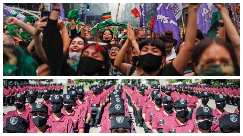 8M: Larreta suma 700 policías y recorta el presupuesto de género, pero las mujeres se organizan