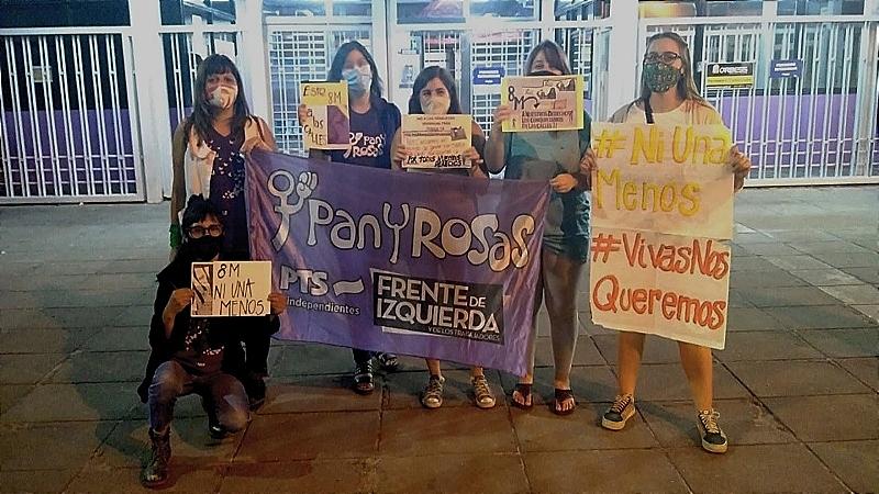 Pan y Rosas invitó a las trabajadoras de Mondelez a marchar este 8M