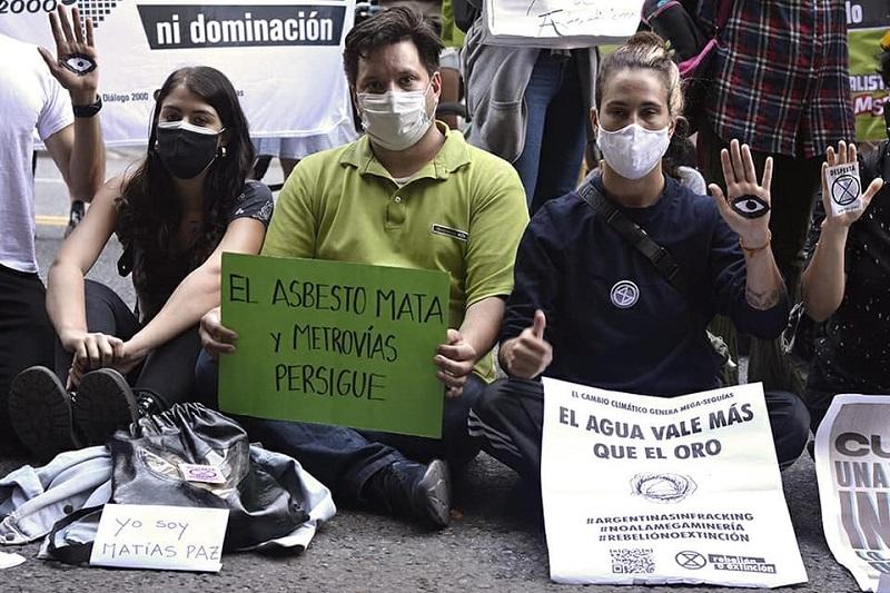 Trabajadores del subte se solidarizan con Andalgalá y llaman a impulsar una campaña en común contra el asbesto
