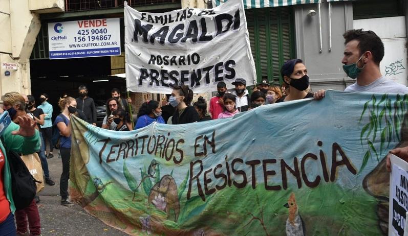 Familias de Magaldi se movilizaron en Rosario