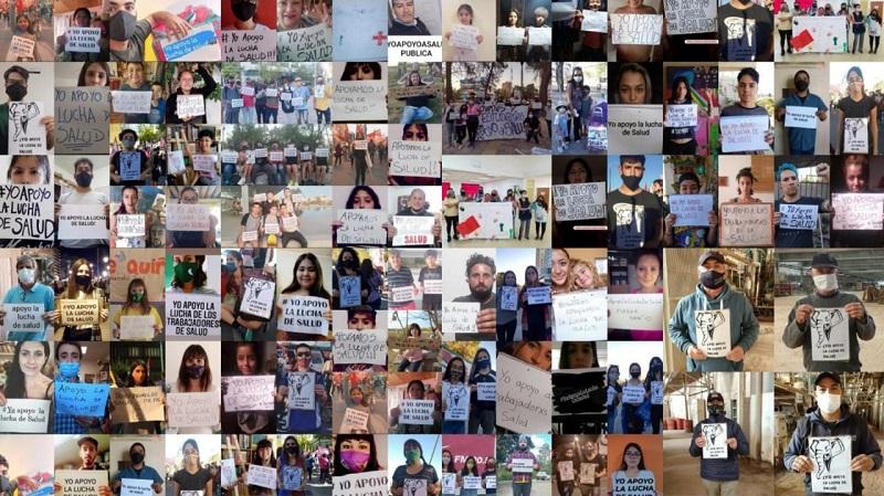 Decenas de jóvenes se suman al apoyo de la lucha de salud en las redes