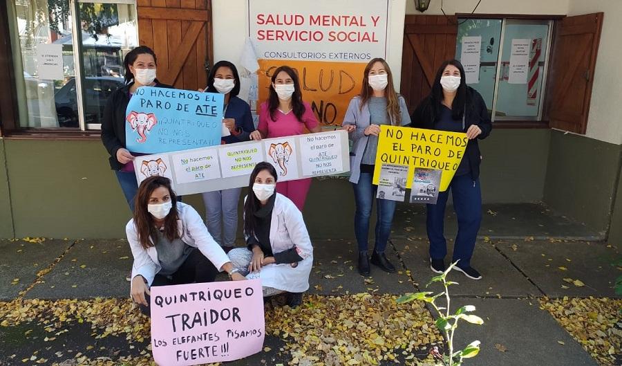 San Martín de los Andes: con fotos repudiaron al secretario general de ATE, Carlos Quintriqueo