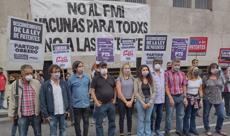 [VIVO] El Frente de Izquierda exige declarar de utilidad pública el laboratorio mAbxience