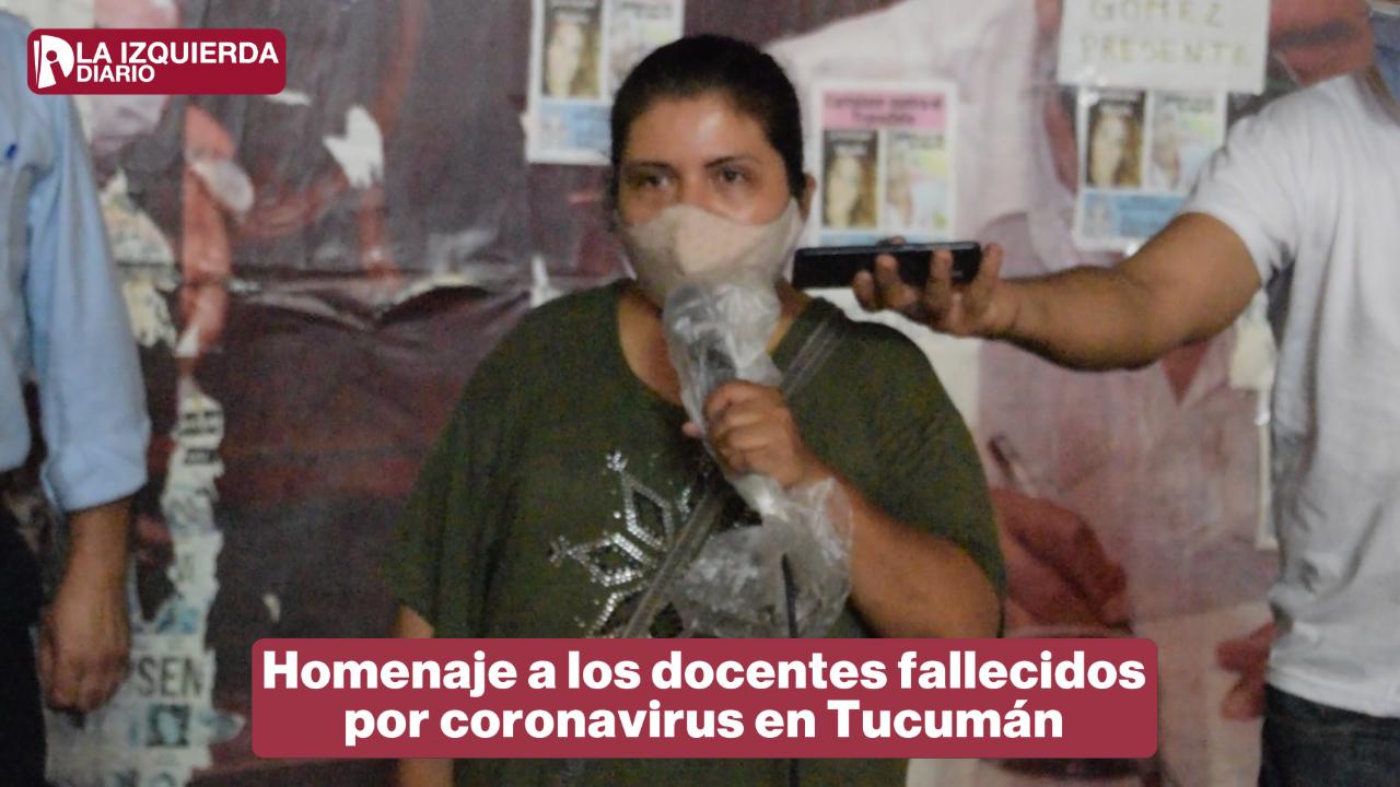 Acto homenaje a trabajadores de la educación fallecidos por coronavirus en Tucumán