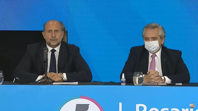 Encuentro entre Alberto Fernández y Omar Perotti en Rosario