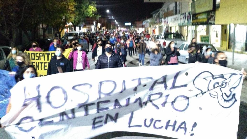 Masiva movilización en Centenario respaldó la lucha de salud