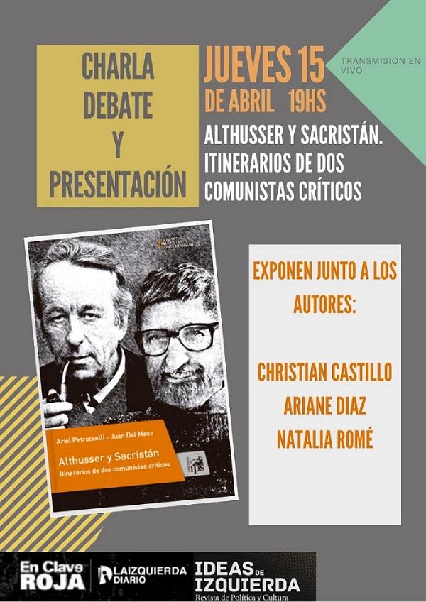 Charla-Debate y presentación del libro sobre Althusser y Sacristan.
