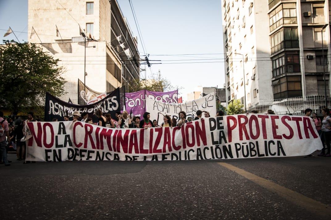 A las calles contra la criminalización: marcha contra el juicio a 27 estudiantes