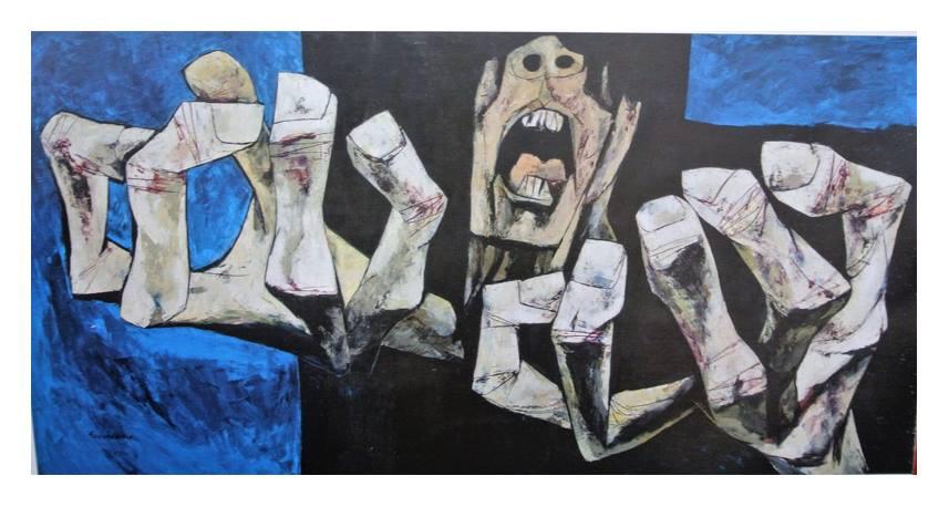 Oswaldo Guayasamín Pintura Para Herir Arañar Y Golpear El