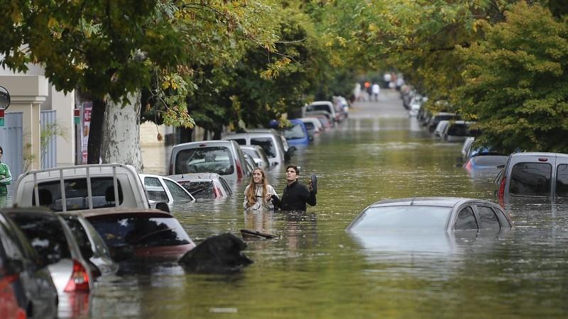 Fotos de las inundaciones en la plata 2