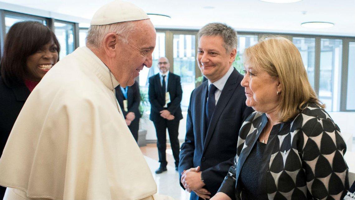 El Papa Francisco recibe la visita de la canciller Malcorra