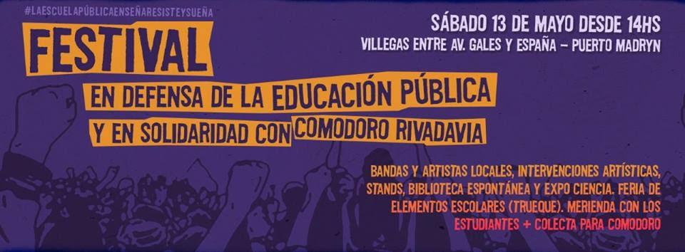 Ma ana se realizar en puerto madryn festival organizado for Comedores escolares caba