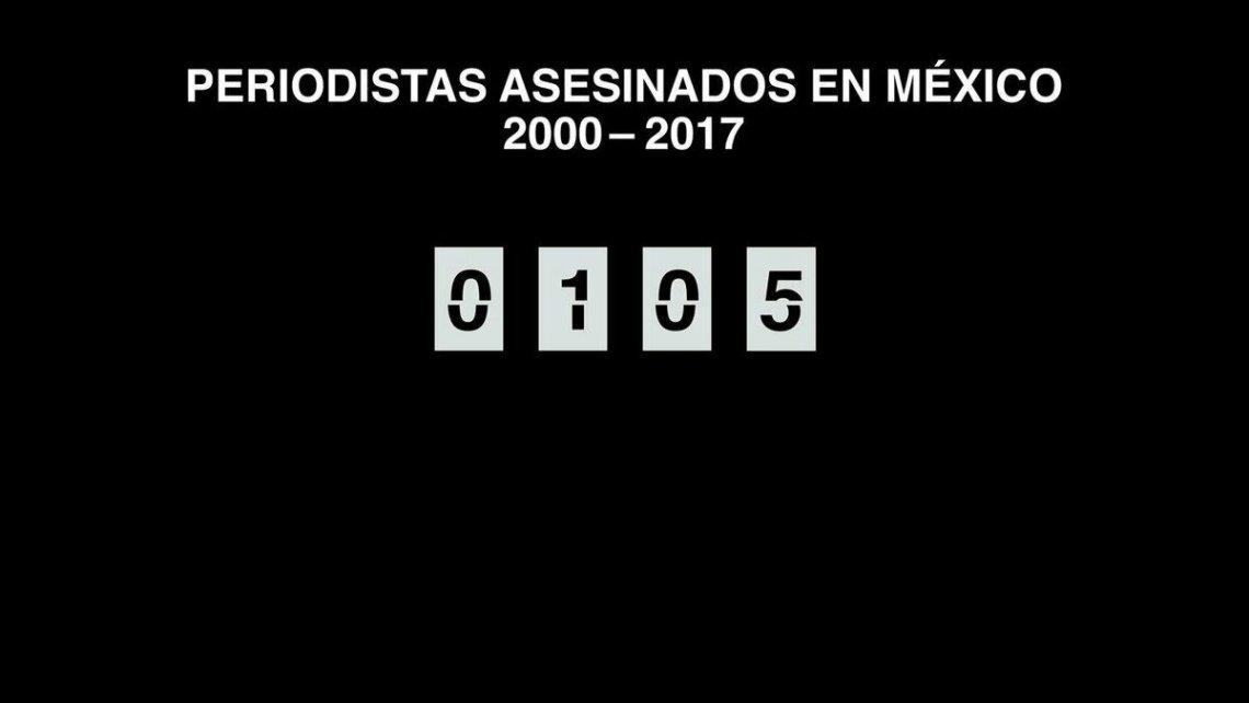 Prensa mexicana para labores en protesta por violencia contra periodistas