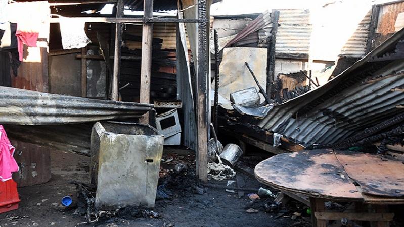 Cuatro niñas murieron en un feroz incendio