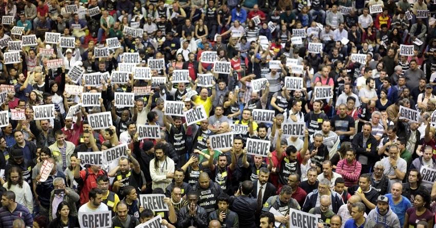 hoy huelga general en brasil