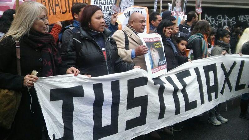 Familiares de Nadia y otras desaparecidas o víctimas de femicidio piden justicia