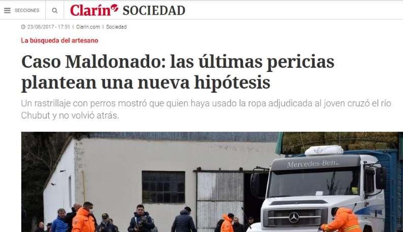 Cómo plantar una hipótesis distractiva sobre Santiago Maldonado — Clarín