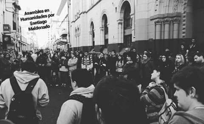 Gendarmería interrumpió una clase pública mientras hablaban de Maldonado