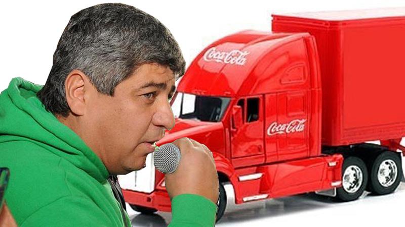 Camioneros de paro contra la empresa Coca Cola