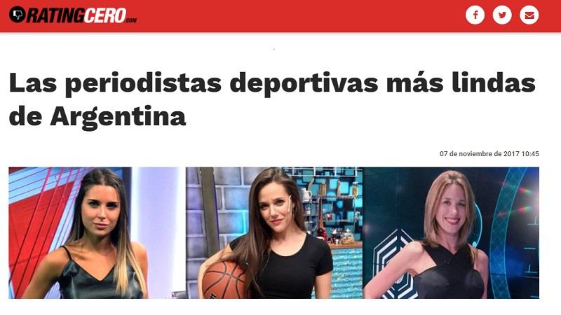 D a del periodista deportivo innecesaria nota machista for Ratingcero espectaculos