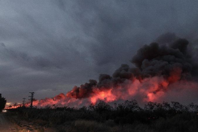 Complicada situación por los incendios en Alvear — Mendoza