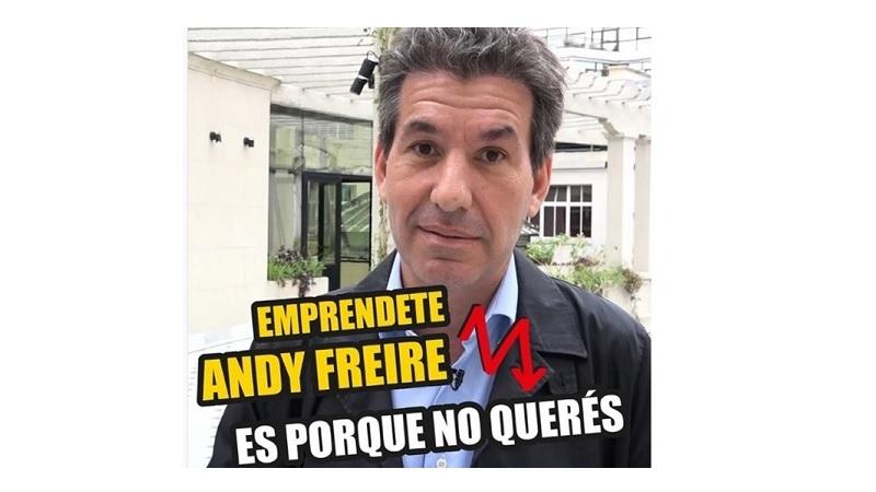 Andy Freire la pasó mal en Twitter con sus consejos para emprendedores