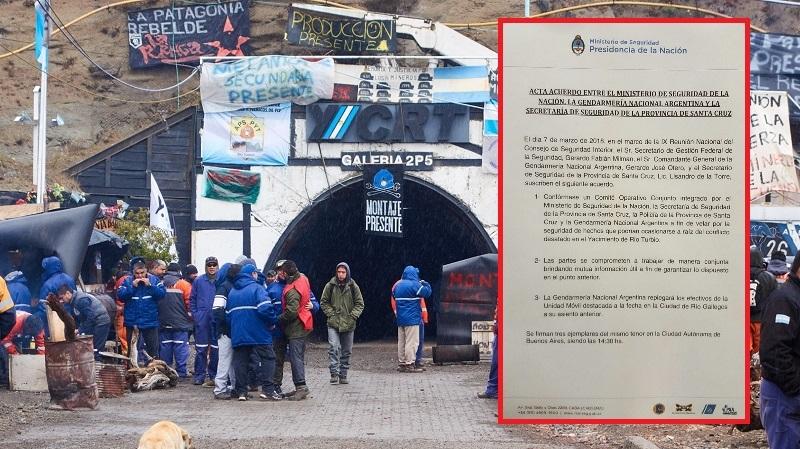 Encapuchados toman la mina de Río Turbio
