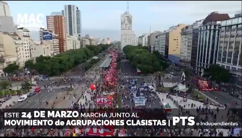 24 de Marzo: marchá junto al Movimiento de Agrupaciones Clasistas