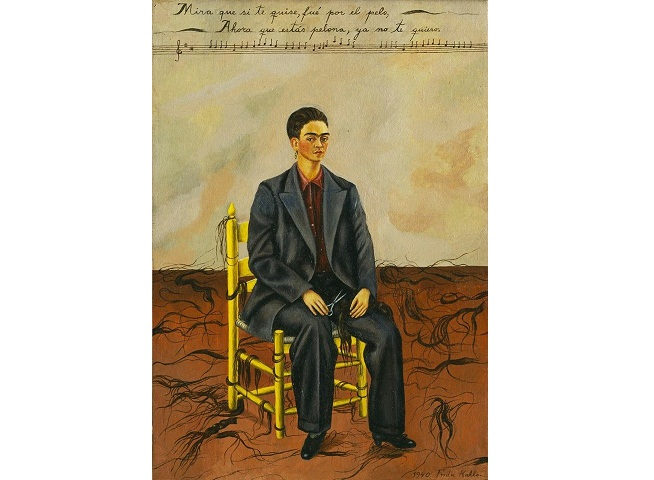 Frida kahlo autorretrato con pelo corto analisis