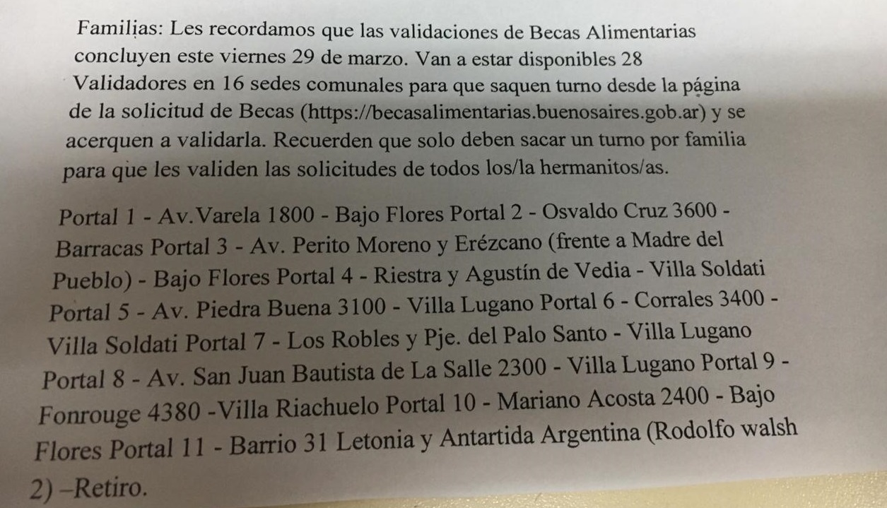 En las escuelas p blicas de caba quieren cobrar 110 pesos for Comedores escolares caba