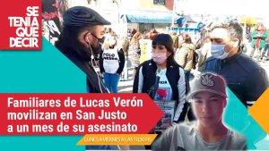 Gatillo fácil: movilización a un mes del asesinato de Lucas Verón