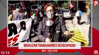 [MÓVIL] Movilización de organizaciones de desocupados en el Obelisco - YouTube