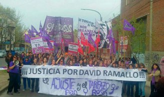 Pan y Rosas grita ¡David Ramallo presente! - YouTube