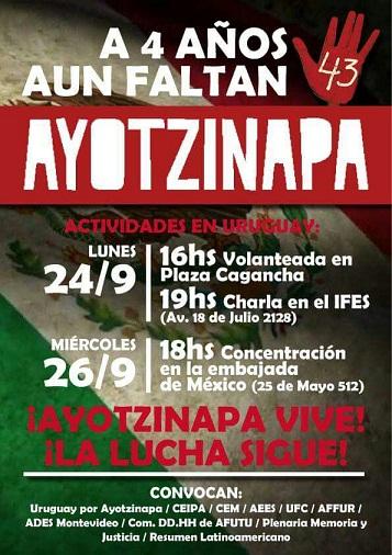 Concentración en la embajada de México en Uruguay