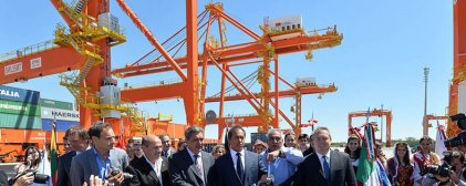 Puerto de La Plata, la inauguración de una nueva alianza peronista