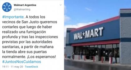 Trabajadores de Walmart impiden la reapertura del supermercado por no estar dadas las condiciones